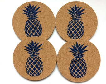 Pineapple Cork Coasters
