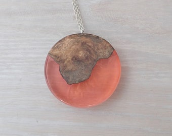 Mango Wood and Red Resin