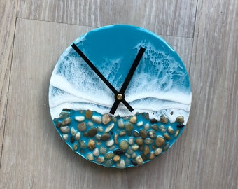 Resin Beach Clock