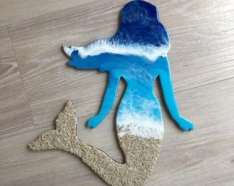 "18"" Resin Mermaid Wall Art"