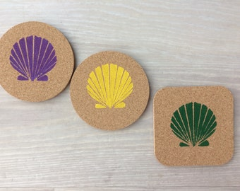 Seashell Cork Coasters