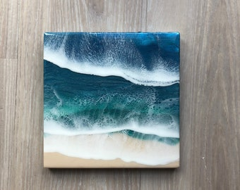 "10"" Resin Beach Art"