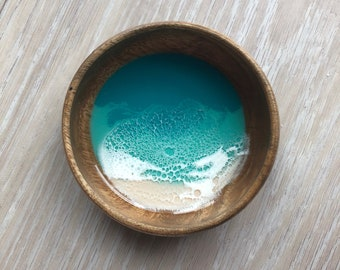 "4"" Resin Wood Bowl"