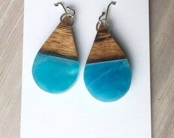Mango Wood Resin Earrings