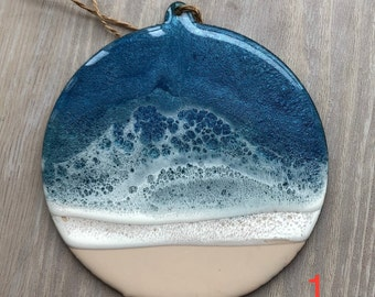 Round Resin Beach Ornament