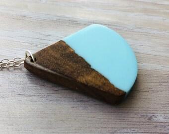 Koa Wood and Blue Resin