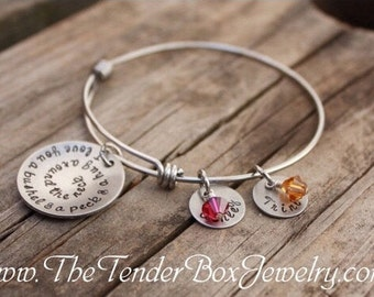 Personalized I love you a bushel and a peck and a hug around the neck bangle bracelet