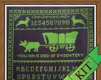 Oregon Trail Inspired Cross Stitch Sampler Kit