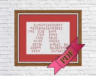 Pi (π) Symbol Pattern, 100 Digits (PDF) >>> Instant Download