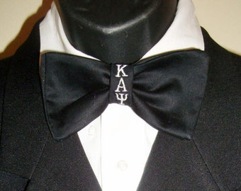 Fraternity Bow Ties For Formal Wear, Weddings, Groups in any Greek lettering