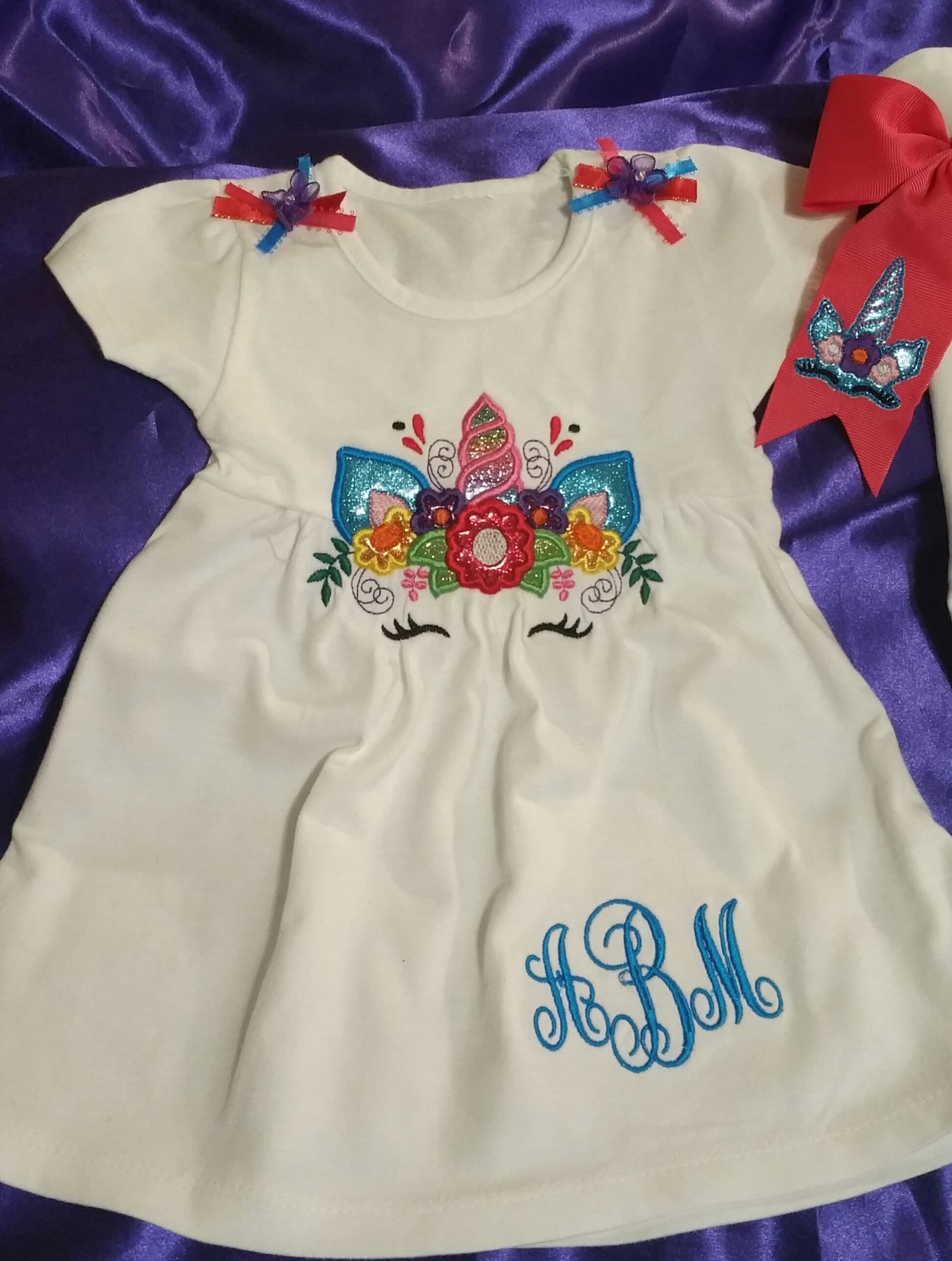Unicorn Shirts In Embroidery And Glitter Vinyl For Kids To Etsy
