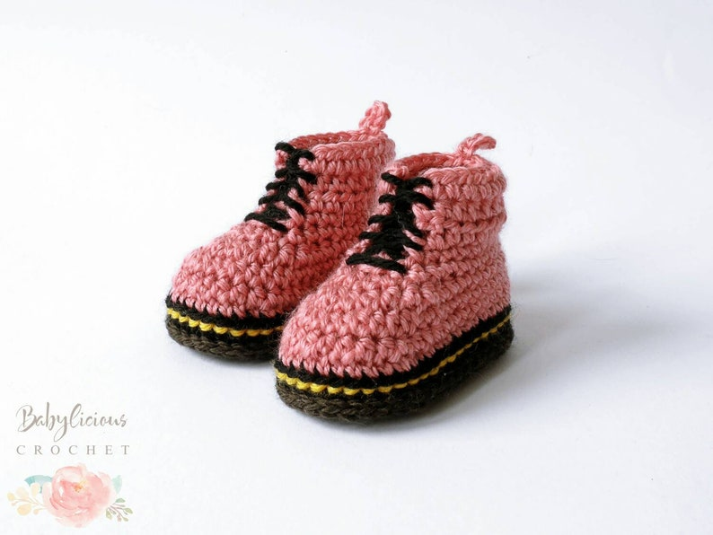 Baby Booties  Modern Crochet Baby Shoes  Ready to Ship Baby image 0