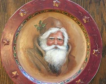 Olde World Santa Plate