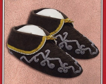 Missouri River Cherokee / Southeastern Native American Indian Moccasins Sewing Pattern #021