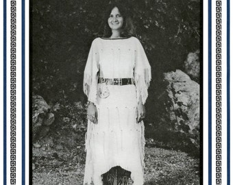 Women's Native American Plains Indian Dress sizes 8-20 Eagle's View Sewing Pattern #75