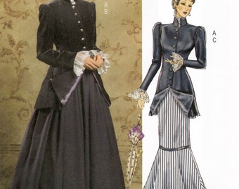 Ladies' Early 20th Century Jacket & Skirt - Edwardian Costume - Butterick 4954 Sewing Pattern