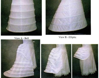 Victorian Hoops & Bustles Sizes 4-36 - Laughing Moon Sewing Pattern # 112 Civil War, 1856-1889 era