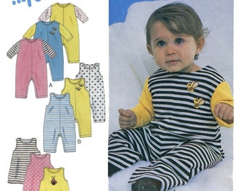 Infant, Baby's Romper & Jumper sizes NB-L New Look Sewing Pattern 6134