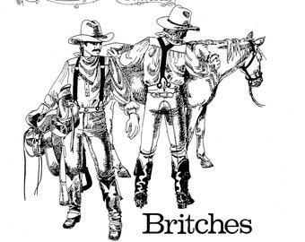 Buckaroo Bobbins Civil War era Britches Sewing Pattern Waist Sizes 28-52""