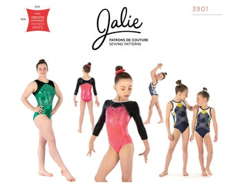 Jalie Kate Gymnastics Leotards Sewing Pattern # 3901 in 28 sizes - Women's XS-2XL & Girls 2-13