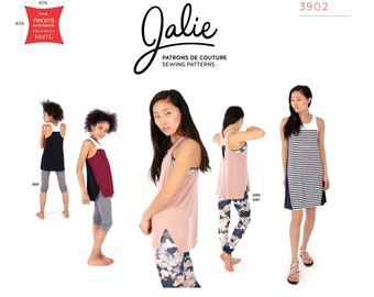 Jalie Nikita Workout Tank & Swing Dress Sewing Pattern # 3902 Women's XS-2XL and Girls 2-13