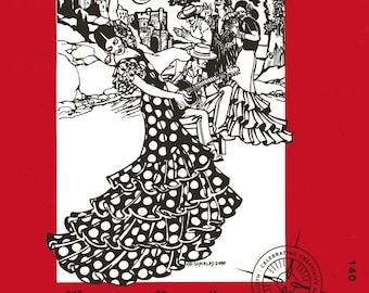 Folkwear Flamenco Dress & Practice Skirt w/Layers of Flounce Sewing Pattern #140 XS-XL Great for Bolero Ballroom and Salsa Dancing