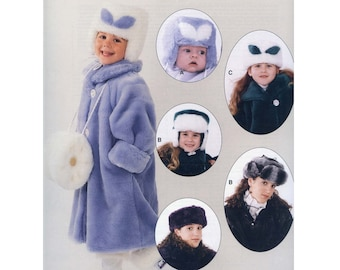 Jalie Sewing Pattern # 942 Faux Fur Muff, Head Band & Hats in Child and Adult Sizes