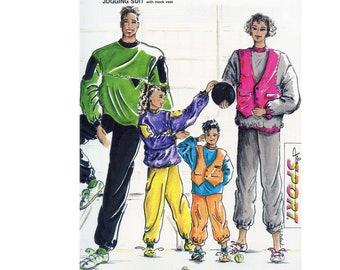 Jalie 9060 Jogging Suit Pants & Pullover Top with Mock Vest Sewing Pattern in 30 Sizes for Men, Women, Child, Infant