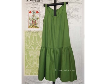 Tina Givens Karen Sleeveless Dress Sewing Pattern # 7119 sizes XS-2X