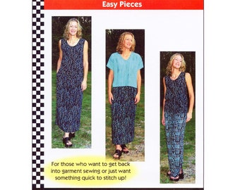 Easy Pieces Short Sleeve Top, Tank Top, Skirt & Pants sizes XS-5XL Dana Marie Sewing Pattern # 1041