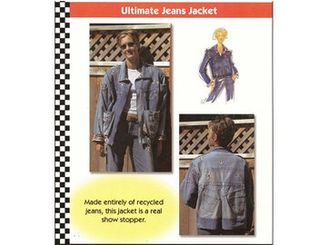 Dana Marie Ultimate Jeans Jacket Made Entirely of Jeans Sewing Pattern # 1003 sizes S-M-L