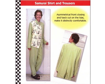 Loose-fit Samurai Shirt and Trousers sizes XS-5XL - Dana Marie Sewing Pattern # 1011