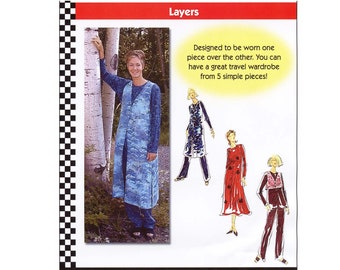 Dana Marie Tunic, Dress, Pants, Short & Long Vest XS-5XL Sewing Pattern 1021 Layers