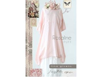 Tina Givens Rosaline Puff Dress/Tunic sizes XS-2X Sewing Pattern # 7028