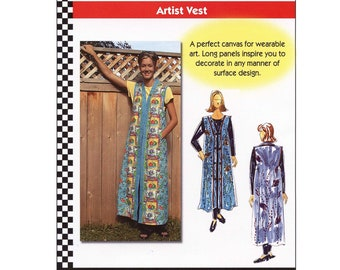 Dana Marie Full Length Artist Vest sizes XS-5XL Sewing Pattern # 1028