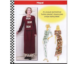 Dana Marie Tunic Top, Long Skirt & Trousers sizes XS-5XL Sewing Pattern # 1023 Nepal