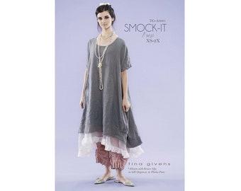 Tina Givens Oversized Smock-It Dress Sewing Pattern # 6001 Sizes XS-2X