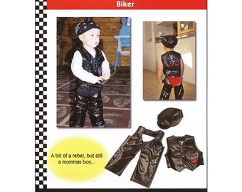 Toddler Boys' Biker Vest, Chaps & Hat sizes 1T-4T Dana Marie Sewing Pattern # 1301