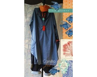 Tina Givens Camillia Shirt Sizes XS-2X Sewing Pattern # 6043