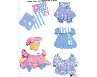 Jalie 936 Sewing Pattern Child's Dress with Beret and Panties Sizes 1M Infant - 3 Toddler