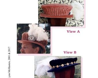 Men's Elizabethan Italian Bonnet Hat sizes S-XL Sewing Pattern #10 by Lynn McMasters