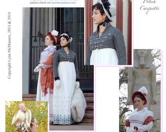 Women's Napoleonic Era Hat Pattern Ca. 1806 - Lynn McMasters Sewing Pattern # 55