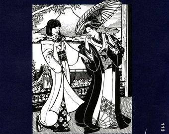 Folkwear Japanese Kimono Sewing Pattern # 113 Informal Yukata in Women's & Men's Sizes