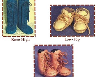 Infant-Toddler & Child's Keltoi Native American Indian Moccasin - 3 Styles - SparrowHawk Sewing-Pattern # Y007