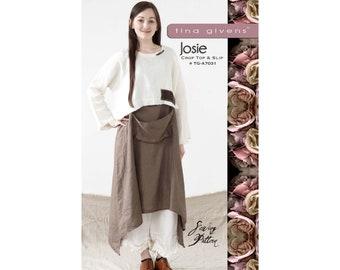 Tina Givens Josie Crop Top & Slip Dress sizes XS-2X Sewing Pattern # 7031