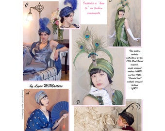 Ladies' Early 20th Century 1910s-1920s Turbans - Lynn McMasters Sewing Pattern # 62