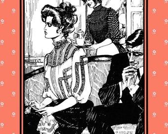 Folkwear Gibson Girl Blouse Victorian - Edwardian Style Size S-3XL Sewing Pattern # 205