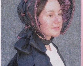 Early Victorian - Civil War era 1845-1865 Bonnet Sewing Pattern # 32 by Lynn McMasters