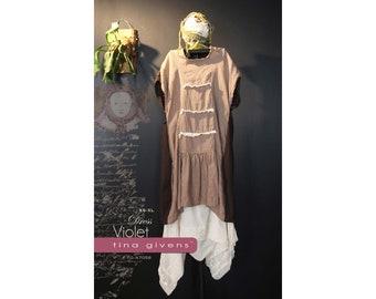 Tina Givens Violet Shift Dress / Tunic sizes XS-2X Sewing Pattern # TG-A7058