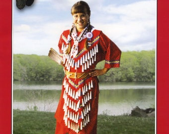 Child's Native American Indian Jingle Dress - Girls' sizes S-XL (6-16) - Missouri River Sewing Pattern # 203